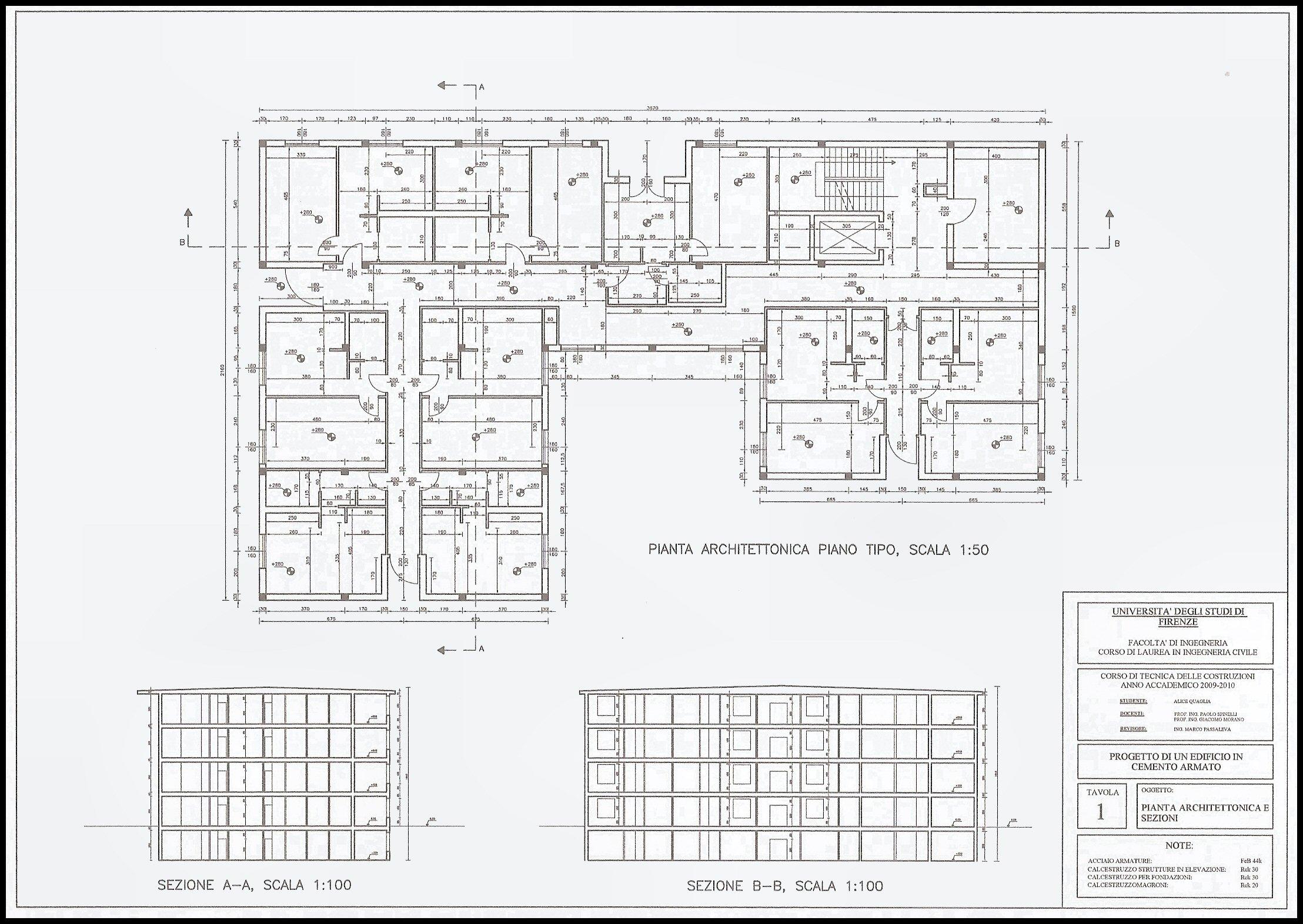 Disegni progetto cemento armato for Come leggere i progetti per i manichini